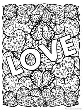 Valentine Valentineprintables Adultcoloringbook Agingwithfreedom