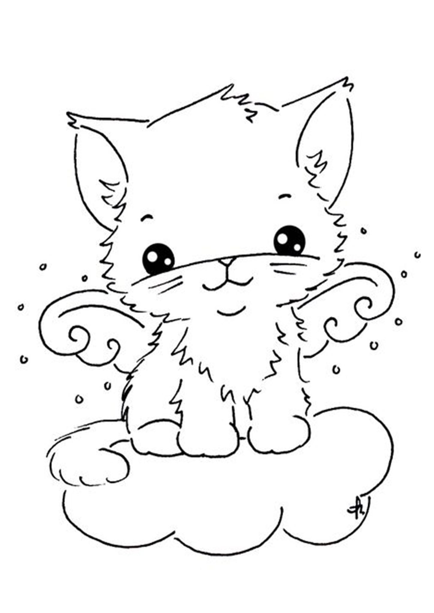 Free Easy To Print Kitten Coloring Pages In 2020 Digi Stamps Cat Coloring Page Coloring Books