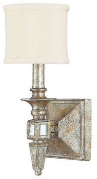 Palazzo Silver and Gold Leaf Sconce - modern - wall sconces - Bellacor