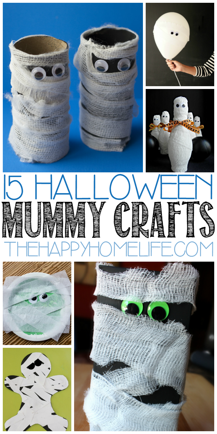 15 halloween mummy crafts for kids - Halloween Mummy Crafts