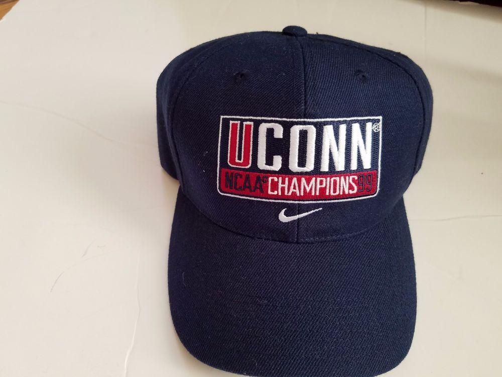 75ef0f5a641 Vintage Connecticut UConn Huskies NCAA CHAMPIONS 99 Hat NIKE navy  Nike   UConnHuskies