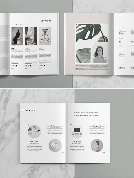 Editorial Catalog  Magazine Template \u2014 PSD Lookbook Template 4