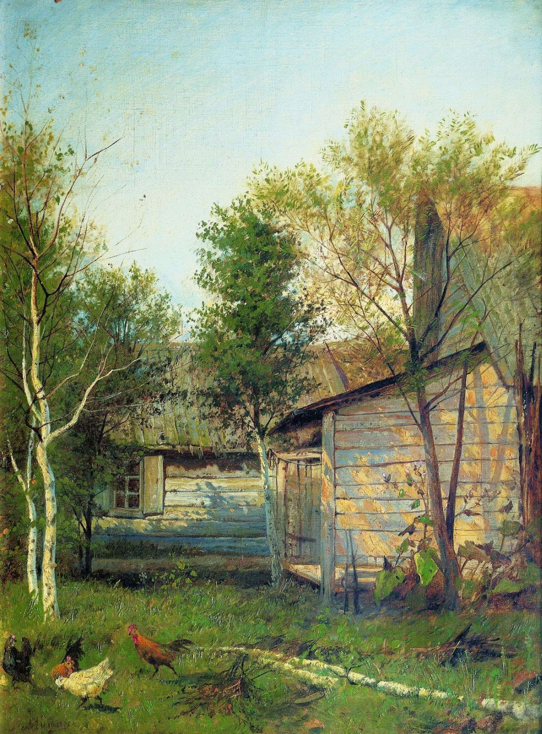 Sunny Day, Spring by Isaac Levitan