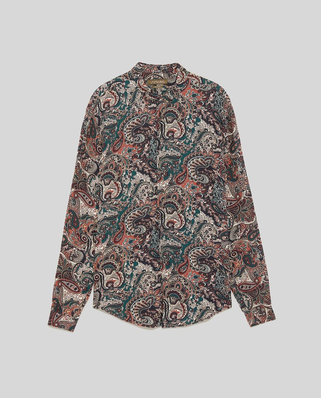 1cfdf64f Imagen 8 de CAMISA ESTAMPADO PAISLEY de Zara | MEN FASHION | Mens ...
