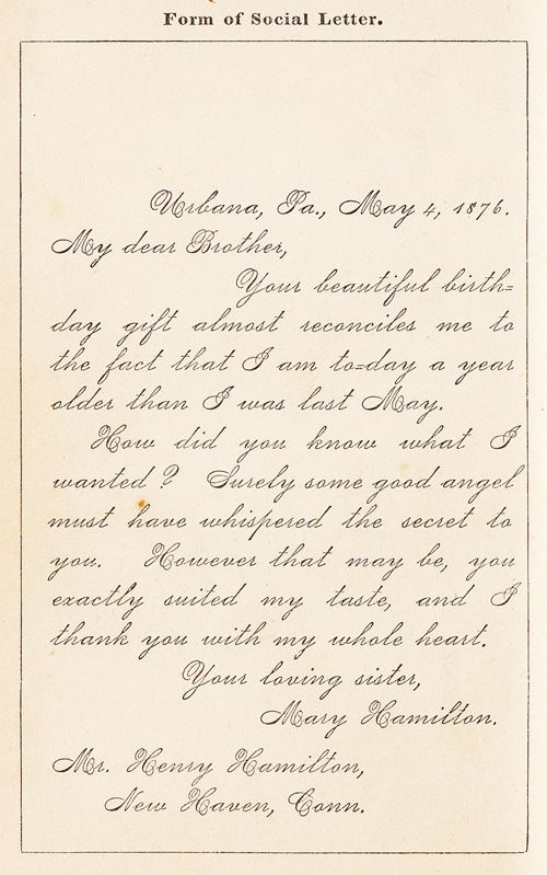 How To Write Letters: A Vintage Guide to the Lost Art of Epistolary Etiquette, 1876 | Brain Pickings