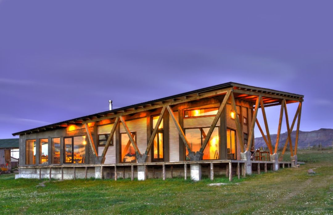 An environmentally friendly home! This wooden home's