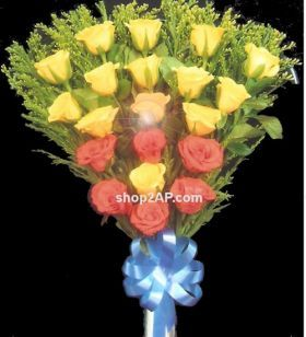 Roses never cease to Fascinate; the many colors of roses each with a different meaning make them altogether more Alluring. Get this Flower Boquet to your loved ones through our Shop2Hyderabad. We have home delivery service and Same Day delivery too.