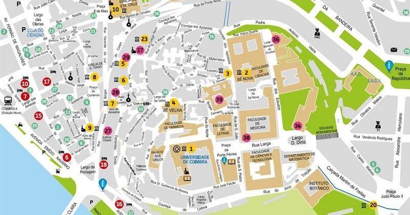 Mapa Turistico De Coimbra Mapa Turistico O Turista Lisboa Turismo