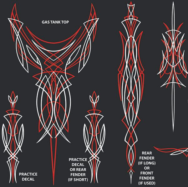 Winners Cycle Graphics Old School Pinstripe Decal Kit Style Pinstripe Art Pinstriping Designs Pinstriping
