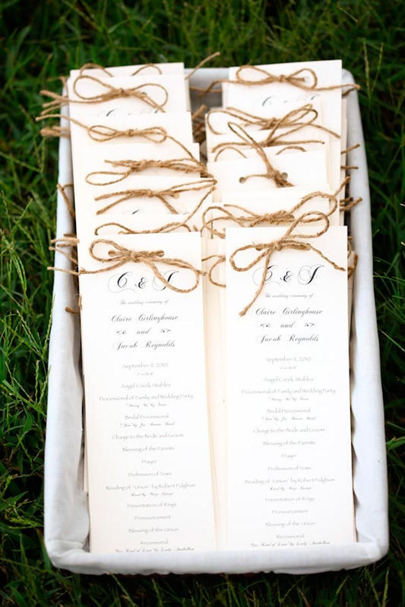 paper Beige programs twine Rustic | Diy wedding programs, Fall wedding  boquets, Wedding with kids