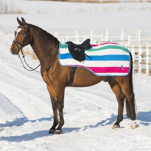 Horze Avalanche Thick Polar Fleece Horse Riding Exercise Rug Quarter Sheet