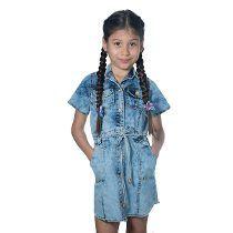 64565d653 Vestido De Niña Jeans Chambray | Vestidos | Dresses, Rompers y Fashion