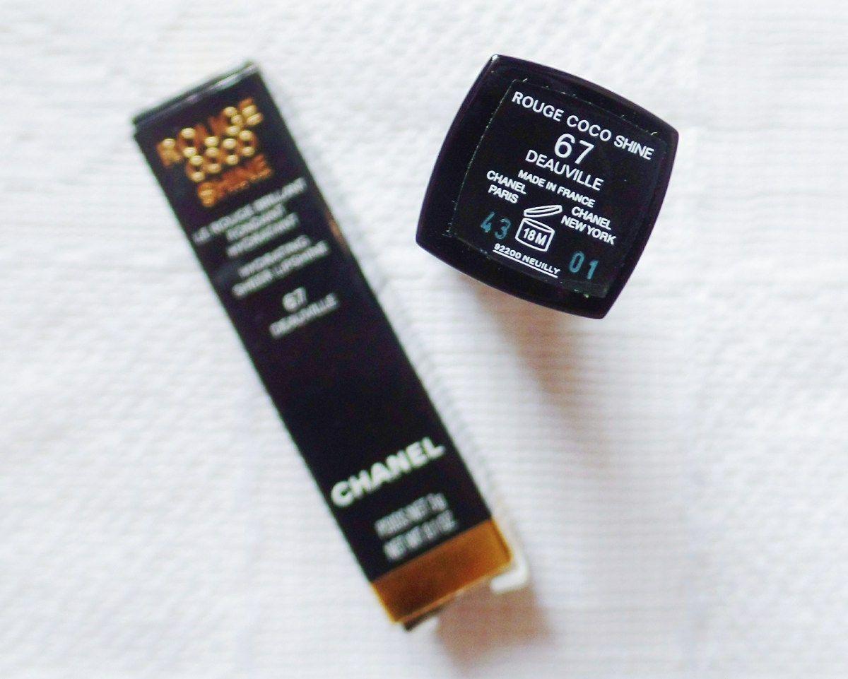 Chanel Rouge Coco Shine Lipstick in Deauville   www.NinaSinganon.com