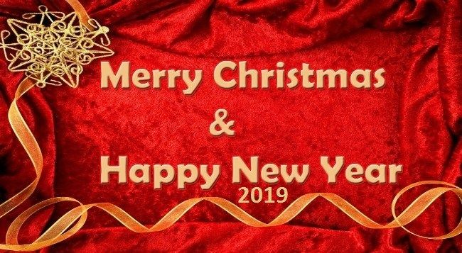 Christmas and a Happy New Year Wishes 2019 Free Download | Happy new year wishes, New year ...