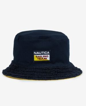 b1c8fcd9af5 Lil Yachty X Nautica Men s Reversible Bucket Hat - Yellow L XL ...