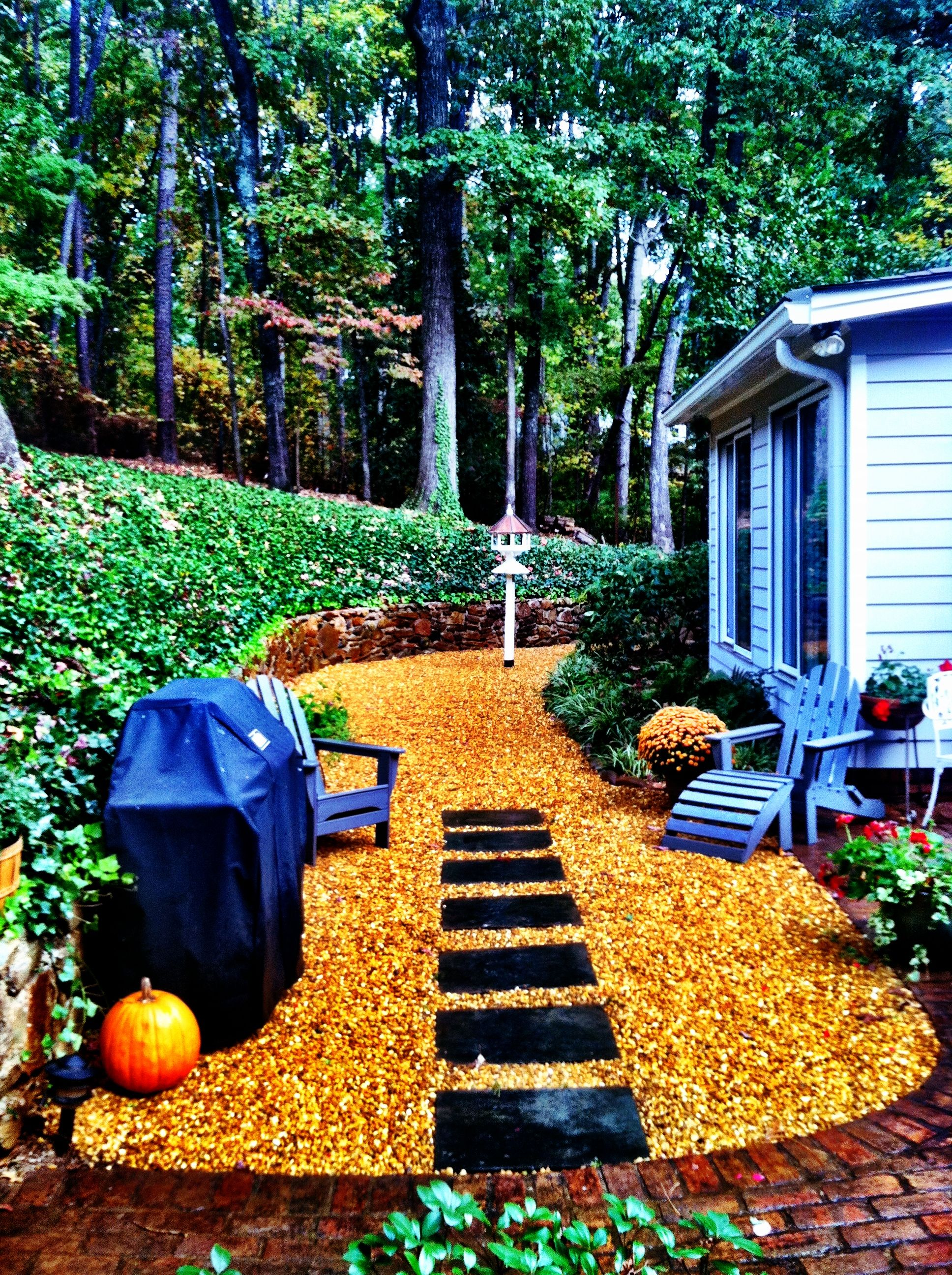 Extend your patio the inexpensive way using pea gravel ...