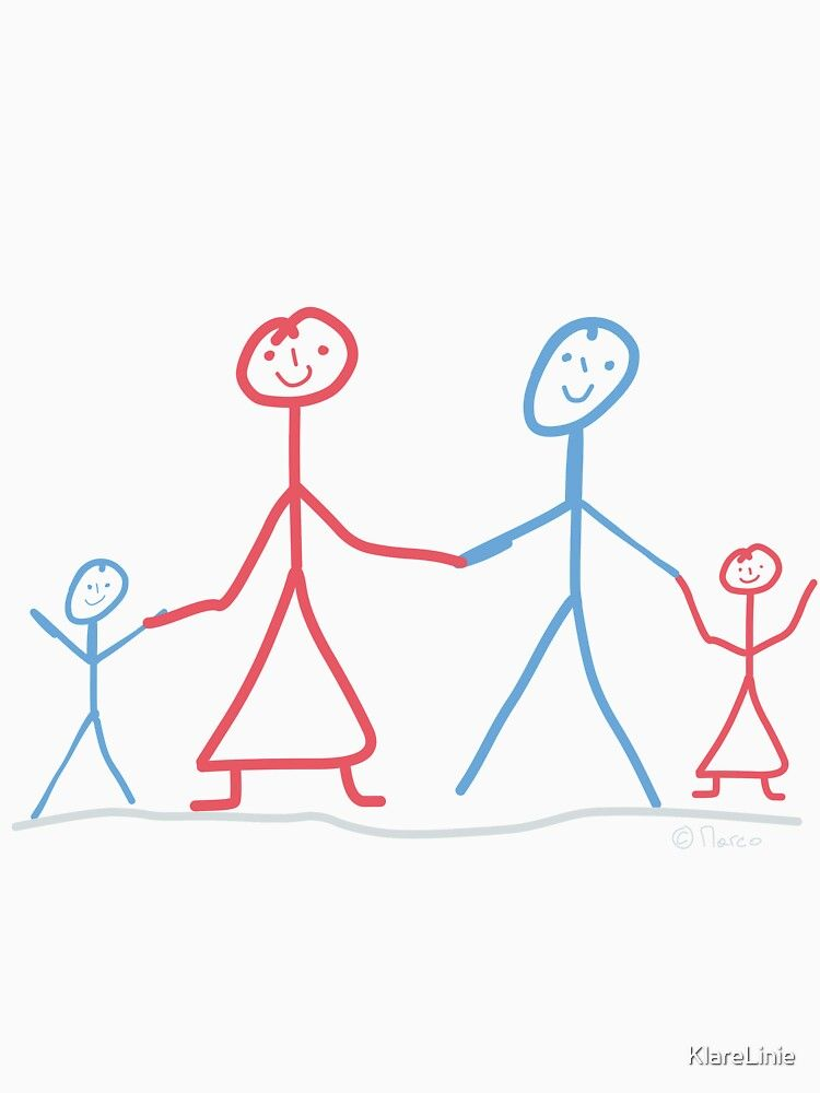 Family Stick Figure Brother Sister Son Mom Dad Essential T Shirt By Klarelinie Stick Figures Mom And Dad Brother Sister