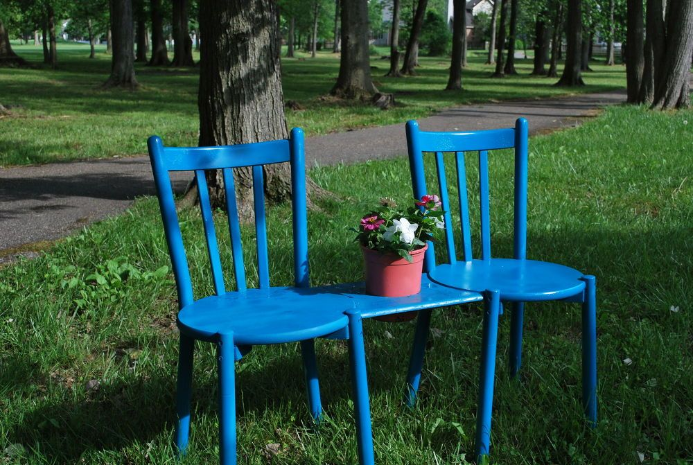 Chair Bench With Planter. So Clever Love The Idea, But I Would Skip The