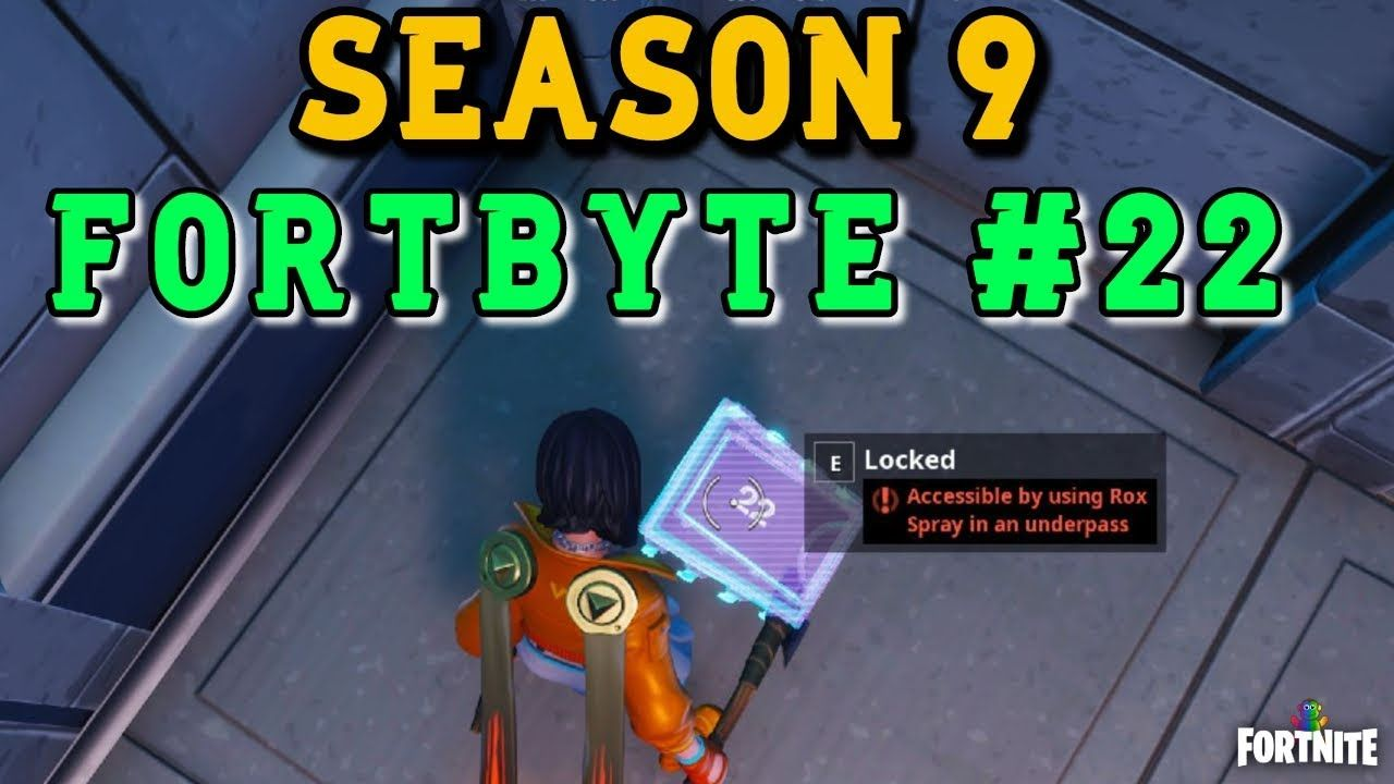 Fortnite Fortbytes 22 Location Where To Find Fortnite Fortbyte 22 Rox Spray Underpass Location Guide Fortniteseason9 Fortnitecreative Fortnite Fortnitebattleroyal Fortnite Spray Guide