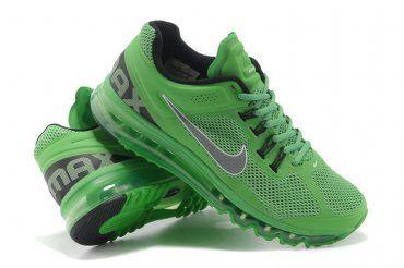 newest cca86 c3276 Nike Air Max 2013 Mens Apple Green Black Running Shoes   Selinda's ...