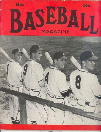 Baseball Magazine Covers 1950s Baseball Magazine Covers Baseball Atlanta Braves Braves