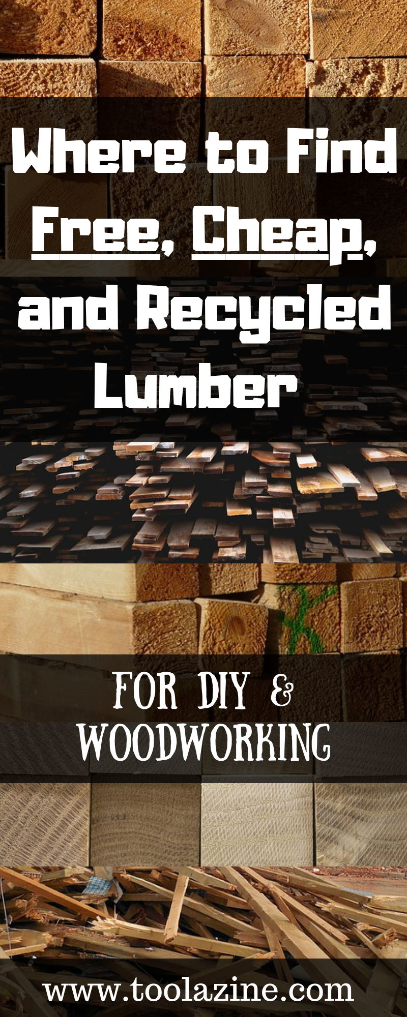Where to Find Free, Cheap, and Recycled Lumber for DIY & Woodworking. Including some great easy options. #woodworkingtips
