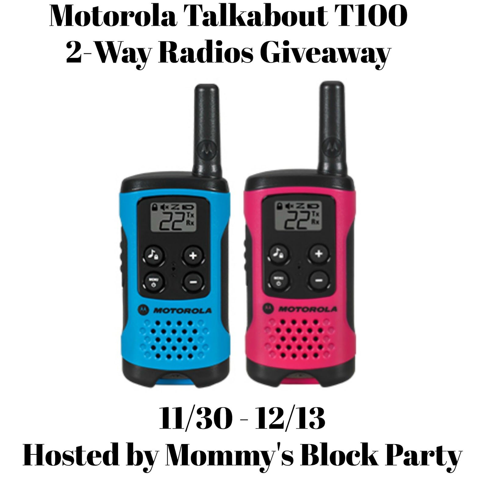 Stay in Touch with the Motorola Talkabout T100 2-Way Radios