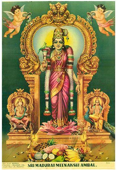Madurai Meenakshi - also a form of Maa Matangi of the Das ...