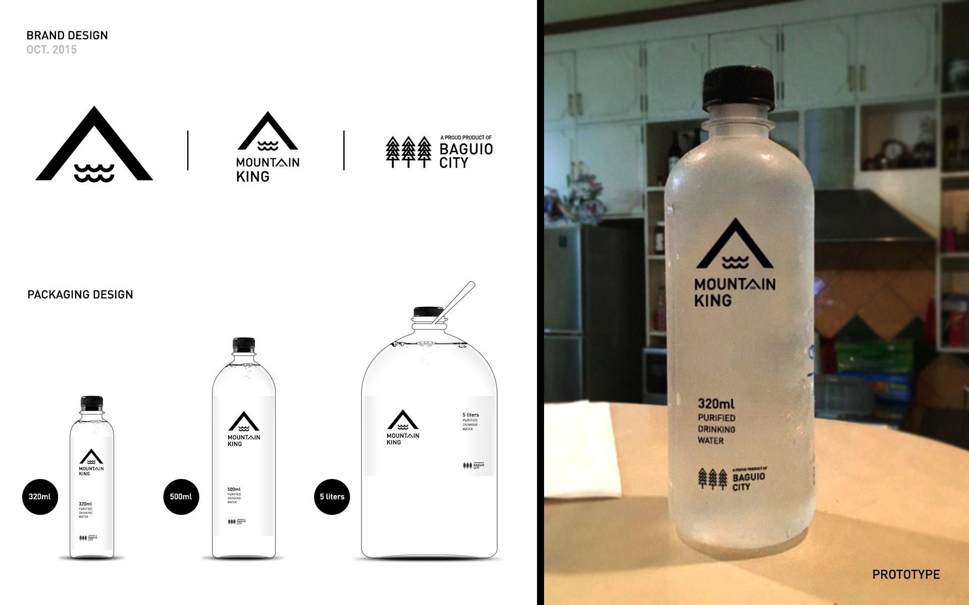 Mountain King Purified Drinking Water Brand + Packaging Design #brand #design #identity #logo #packaging #beesandvulture