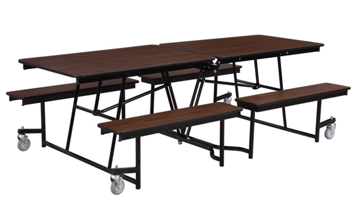 Mobile Bench Cafeteria Table Particleboard Top W T Mold Edge 8 L By National Public Seating Cafeteria Table Public Seating Table