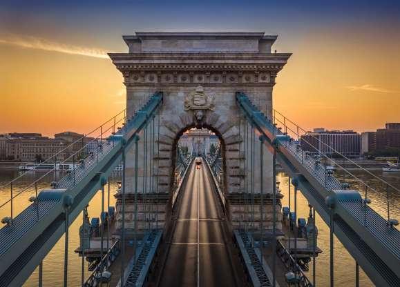 Puente De Las Cadenas Széchenyi Hungría Budapest Budapest Hungría Monumento A Washington