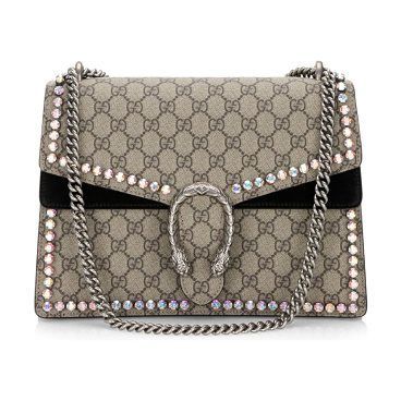 medium dionysus crystal-embellished suede chain shoulder bag by Gucci.  Low-environmental impact d0ba5be59af