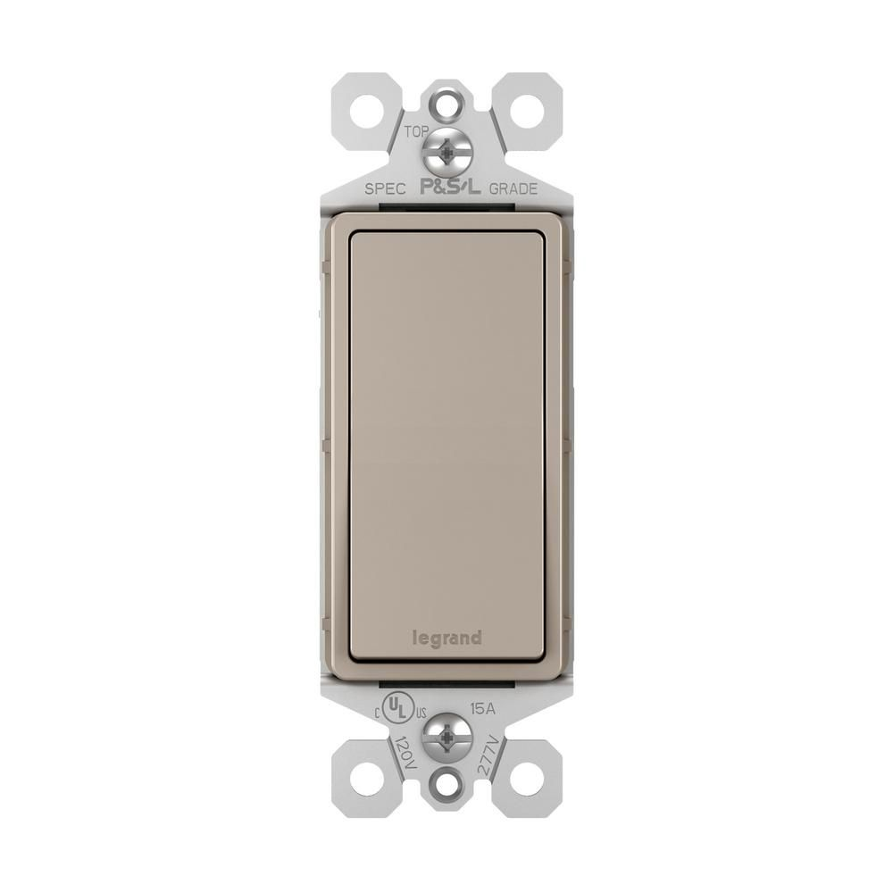 Legrand Radiant 15 Amp 120 Volt 3 Way Rocker Light Switch Nickel Tm873nicc10 In 2020 Three Way Switch Plates On Wall Home Automation