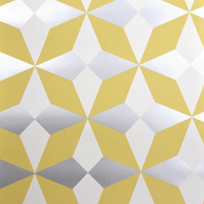 Newby Mustard Geometric Wallpaper Geometric wallpaper