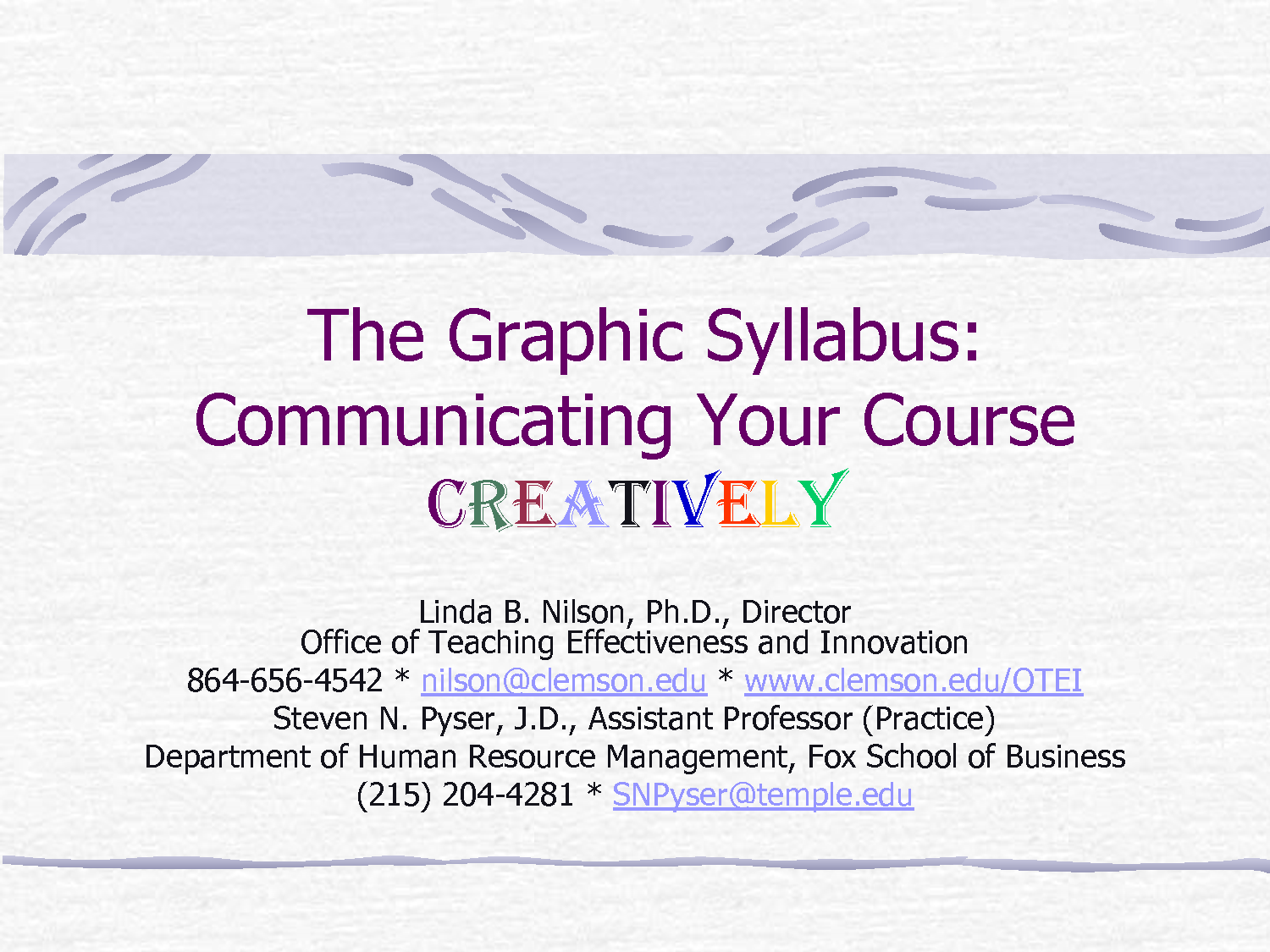 the graphic syllabus fox school of business temple university by