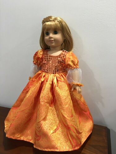 Handmade Doll Clothes Renaissance Historical Dress Fits 18 American girl Doll #historicaldollclothes