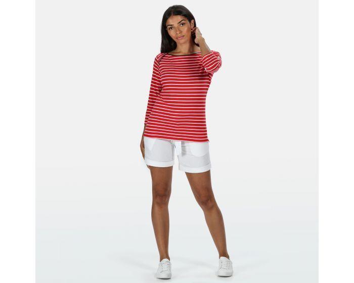 Women's Polina Printed Long Sleeved T-Shirt True Red Stripe