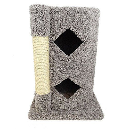 Two Story Cat Condo 31 Inch For Indoor Cats Best Wood Kitty Condos Gray Carpet You Can Find Out More Details At The Link O Wood Cat Cat Condo Pet Furniture