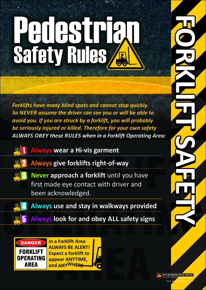 Forklift Safety Poster regarding Pedestrian Safety