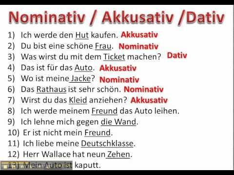 determining cases with nominative accusative and dative ...