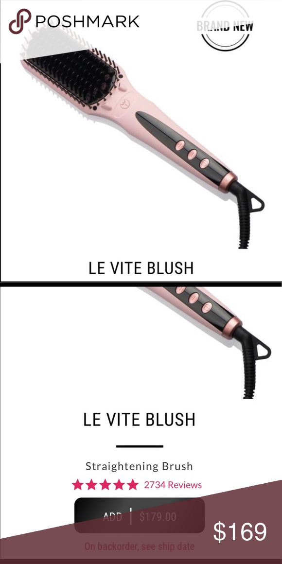 L'ange Le Vite Straightening Brush in Blush L'ange