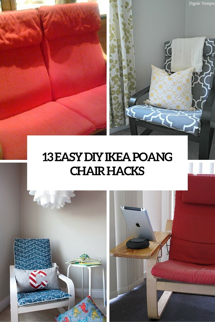 13 Ikea Poang Chair Hacks Sewing Covers Links To Making A Loveseat Or Clamping On A Wider Armrest Small Table S Ikea Poang Chair Ikea Diy Diy Rocking Chair