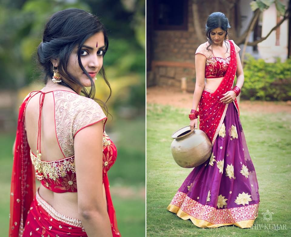 Fashionable Half Saree By Bhargavi Kunam