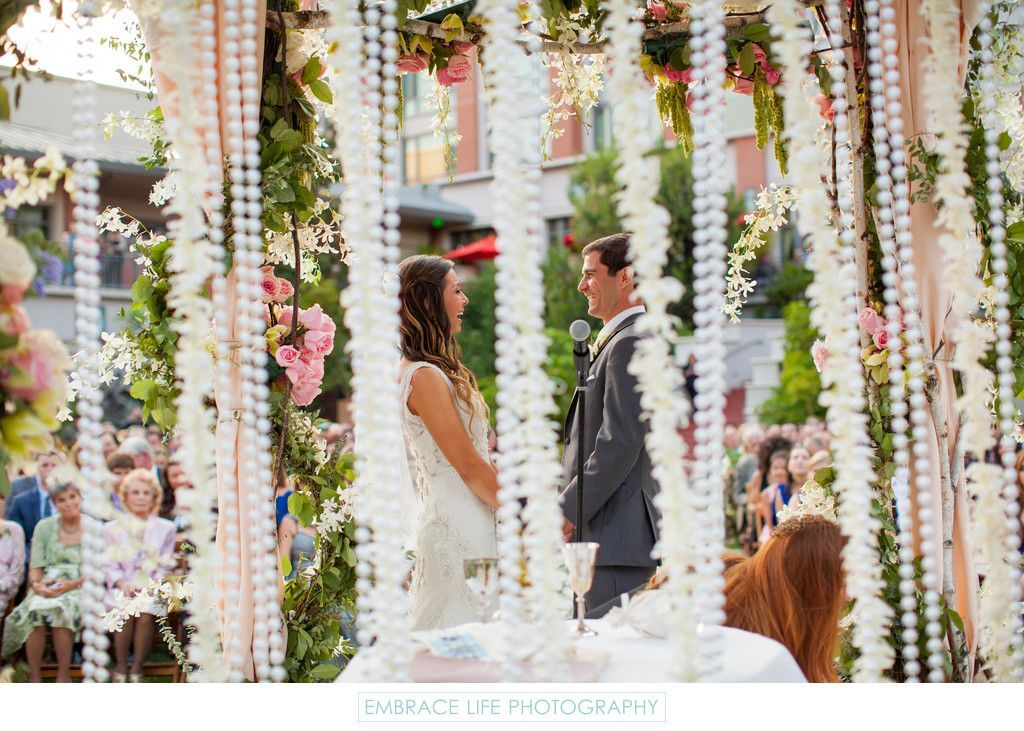 Embrace Life Photography Bride And Groom Laughing During Their Wedding Vows S Bride In 2020 Jewish Wedding Ceremony Wedding Photography Bride Wedding Vows
