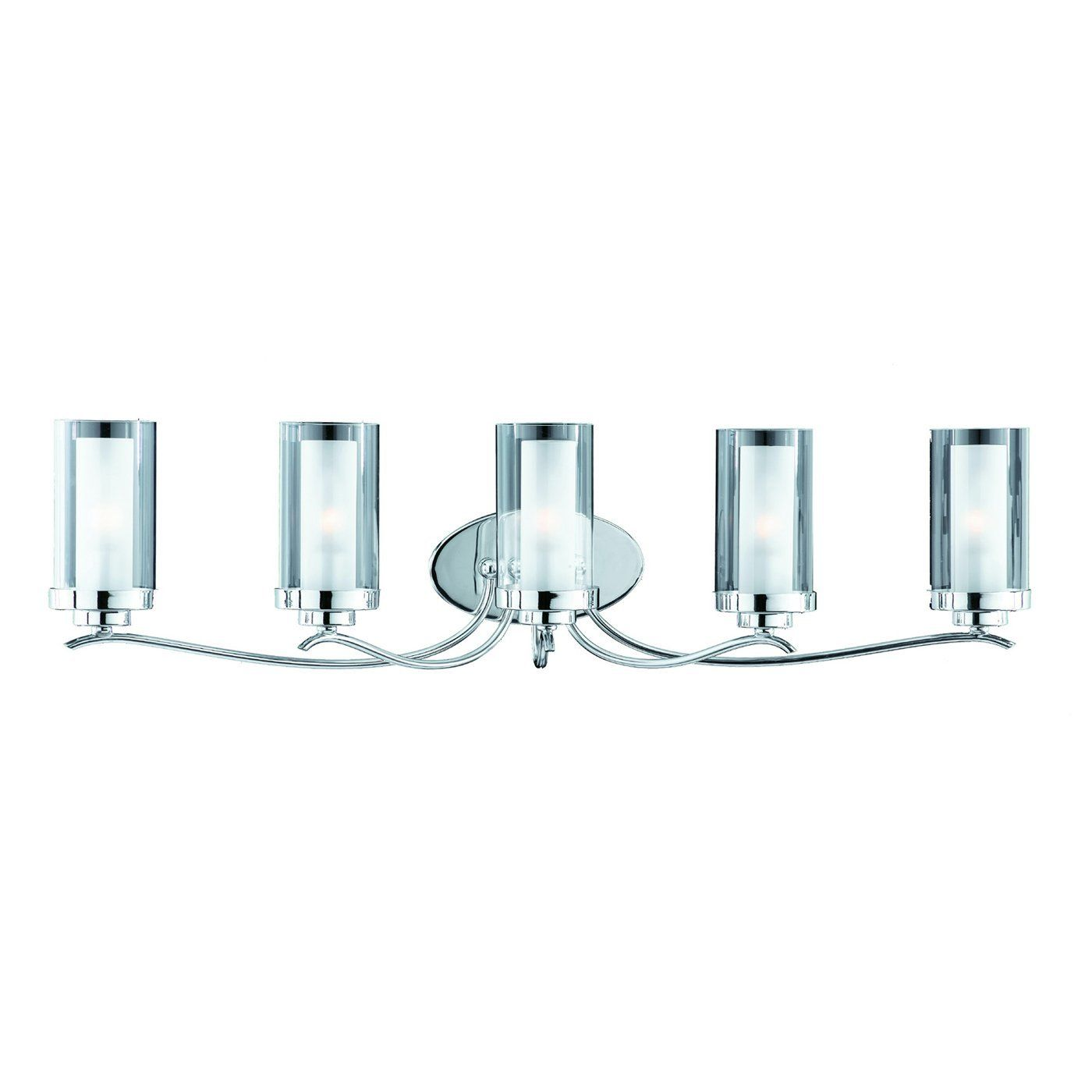 Triarch 25245 Cylindique Collection 5 Light Vanity Fixture Chrome