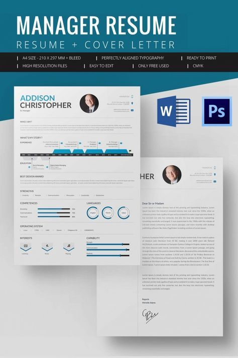 Manager Resume Template , Mac Resume Template – Great for More ...
