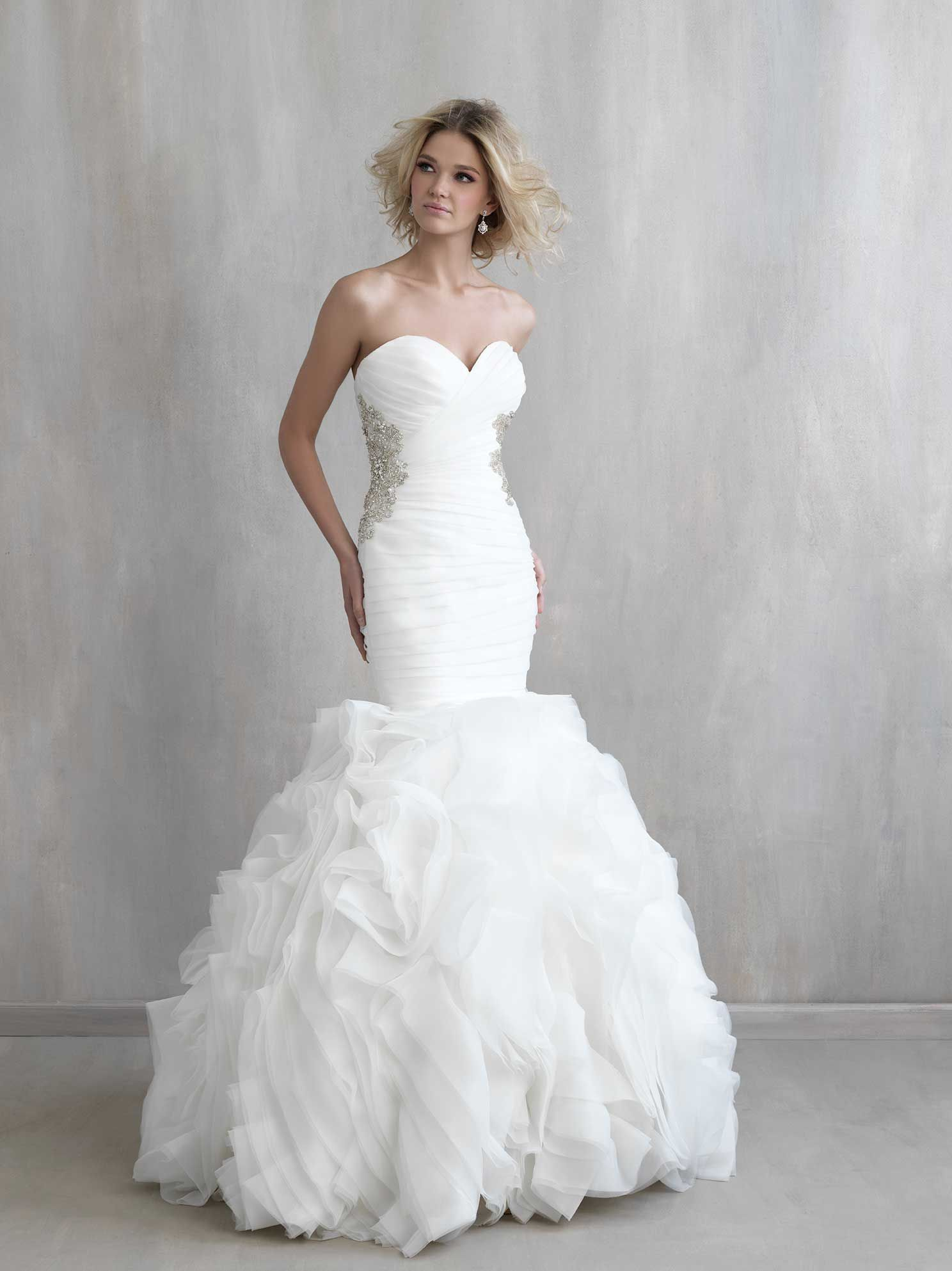 Style: MJ202 Ultra-textured ruffles and ruching pair perfectly in ...