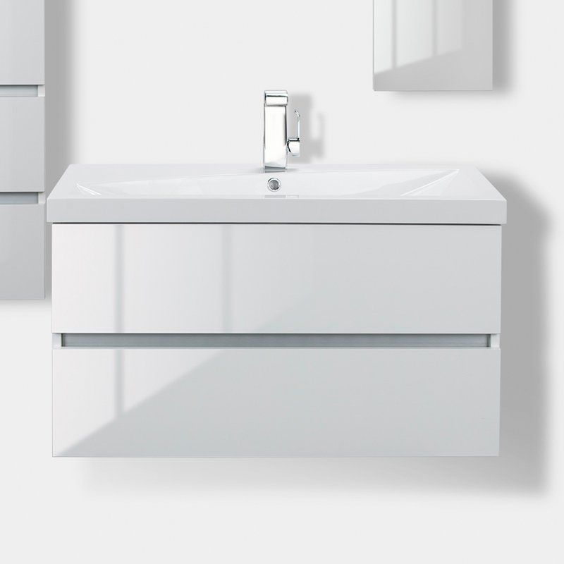 cutler kitchen and bath stainless steel sinks sangallo 36 in wall hung gloss bathroom vanity fvblanco36