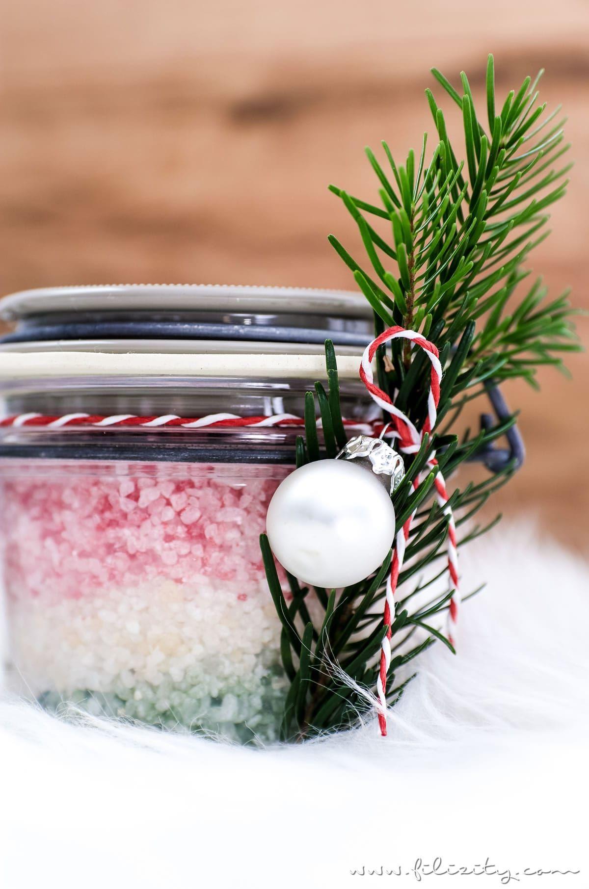 Geschenkidee Diy Weihnachts Badesalz Advensi Christmas