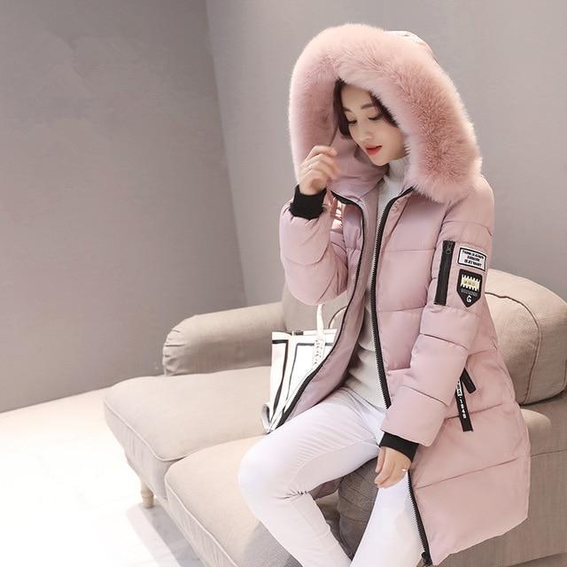 Warm Winter Jacket Women Plus Size Middle Long Feminine Winter Coat